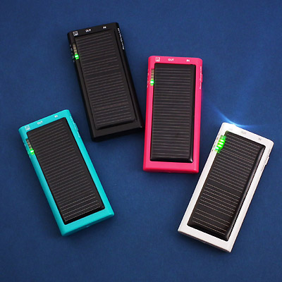 Mini Solar Charger with LED (Plastic Case)