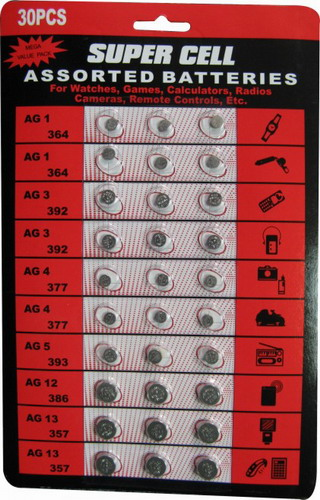 SUPERCELL AG Button Cell 30 Assorted Pack